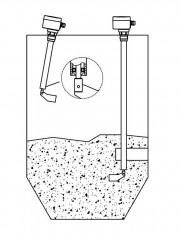 Применение ротационного сигнализатора уровня RN 3002 с трубным удлинением
