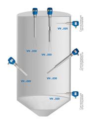 Применение вибрационного сигнализатора уровня VN 2020